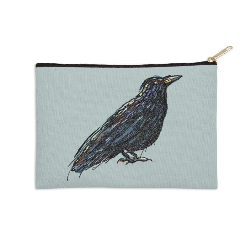 Crow's Feet Accessories Zip Pouch by BullShirtCo