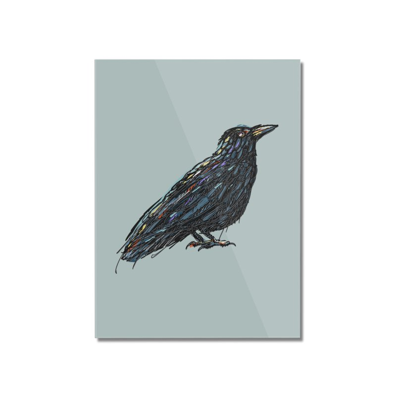 Crow's Feet Home Mounted Acrylic Print by BullShirtCo