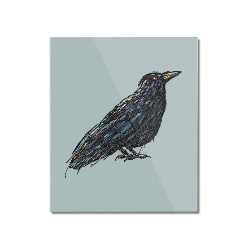 Crow's Feet Home Mounted Acrylic Print by BullShirtCo