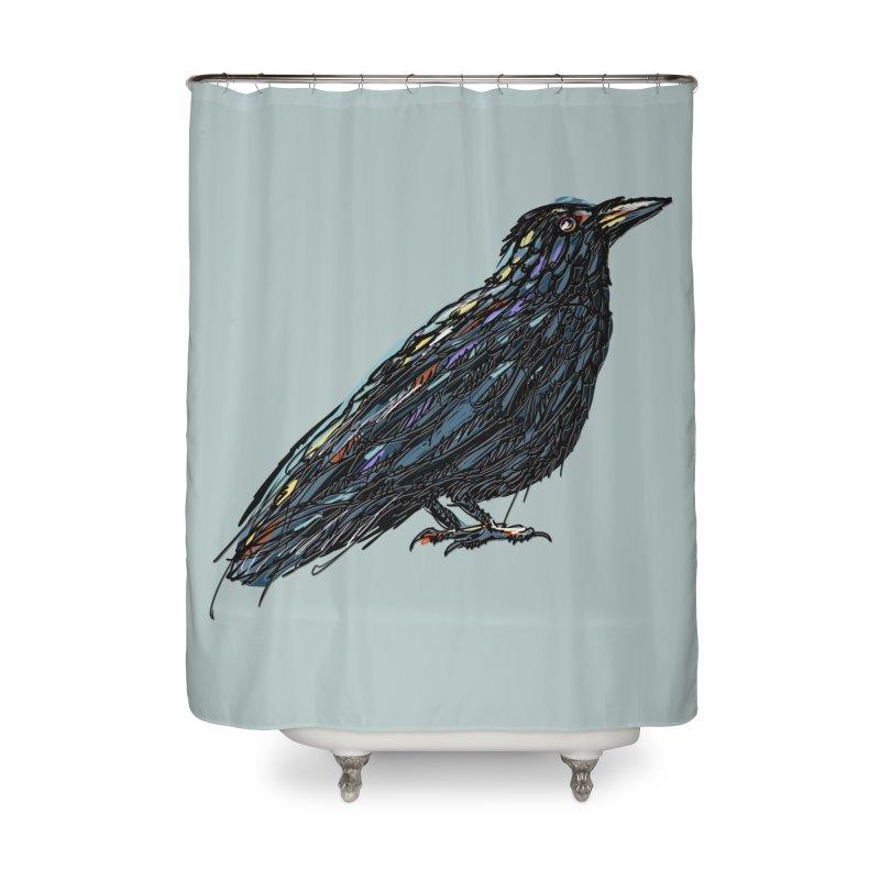 Crow's Feet Home Shower Curtain by BullShirtCo