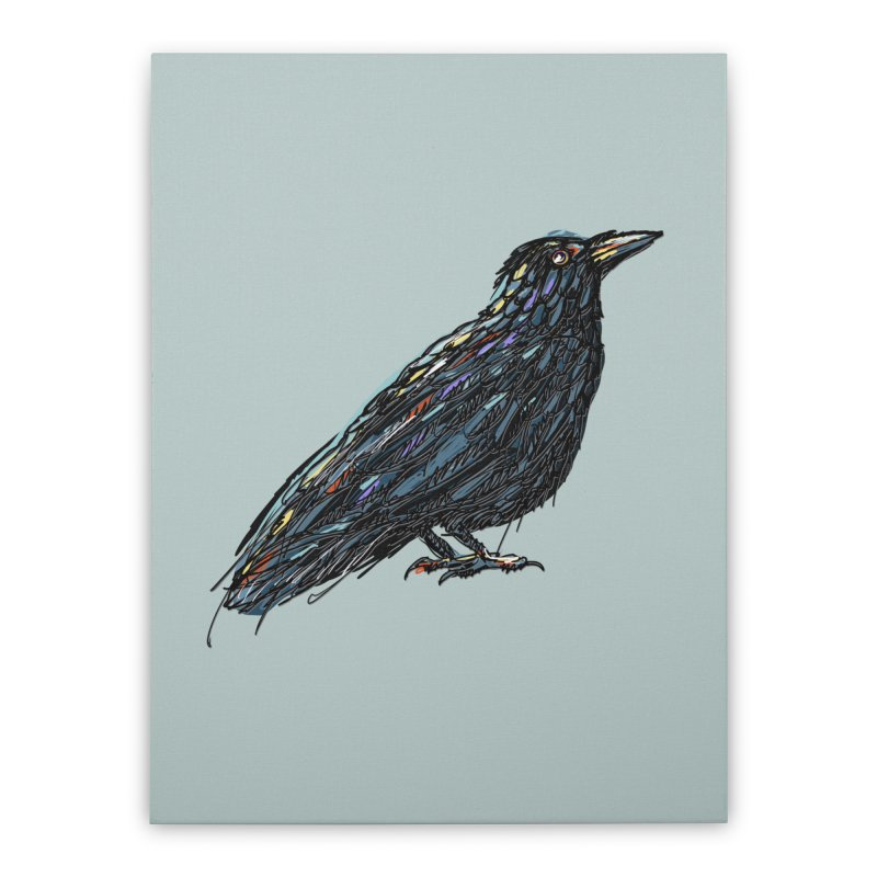 Crow's Feet Home Stretched Canvas by BullShirtCo