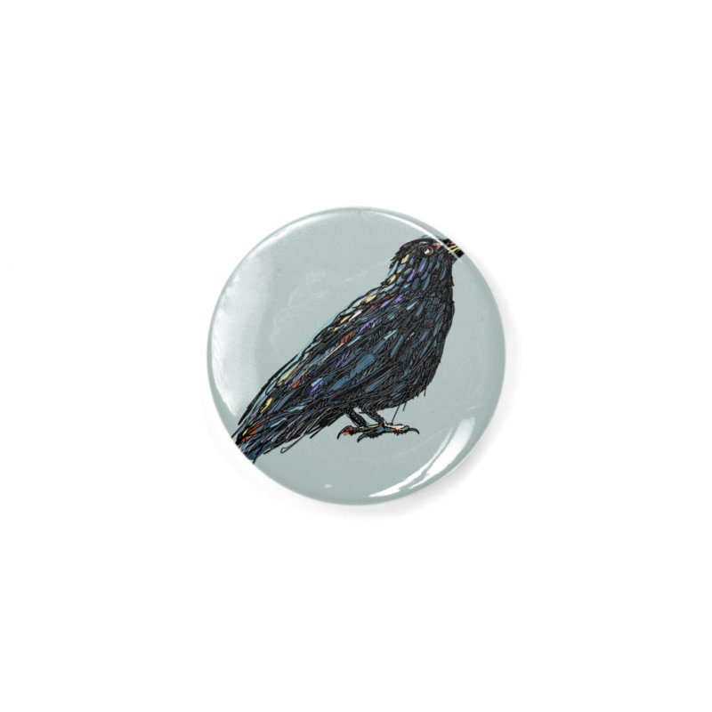 Crow's Feet Accessories Button by BullShirtCo