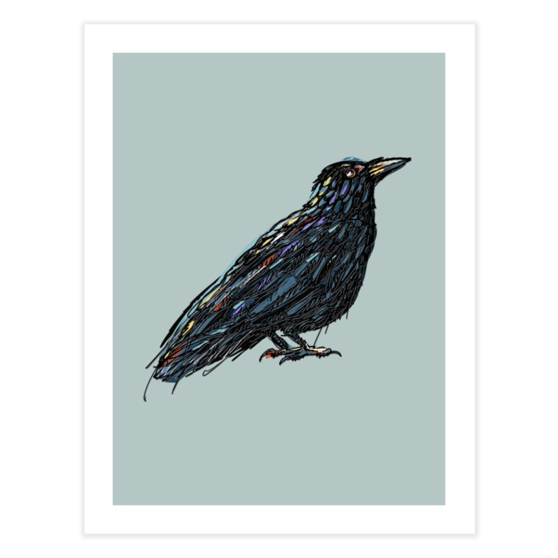 Crow's Feet Home Fine Art Print by BullShirtCo