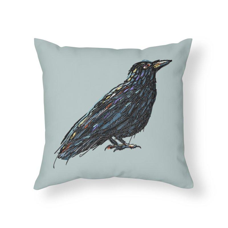 Crow's Feet Home Throw Pillow by BullShirtCo