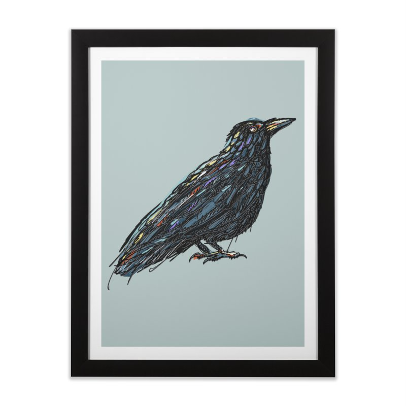 Crow's Feet Home Framed Fine Art Print by BullShirtCo