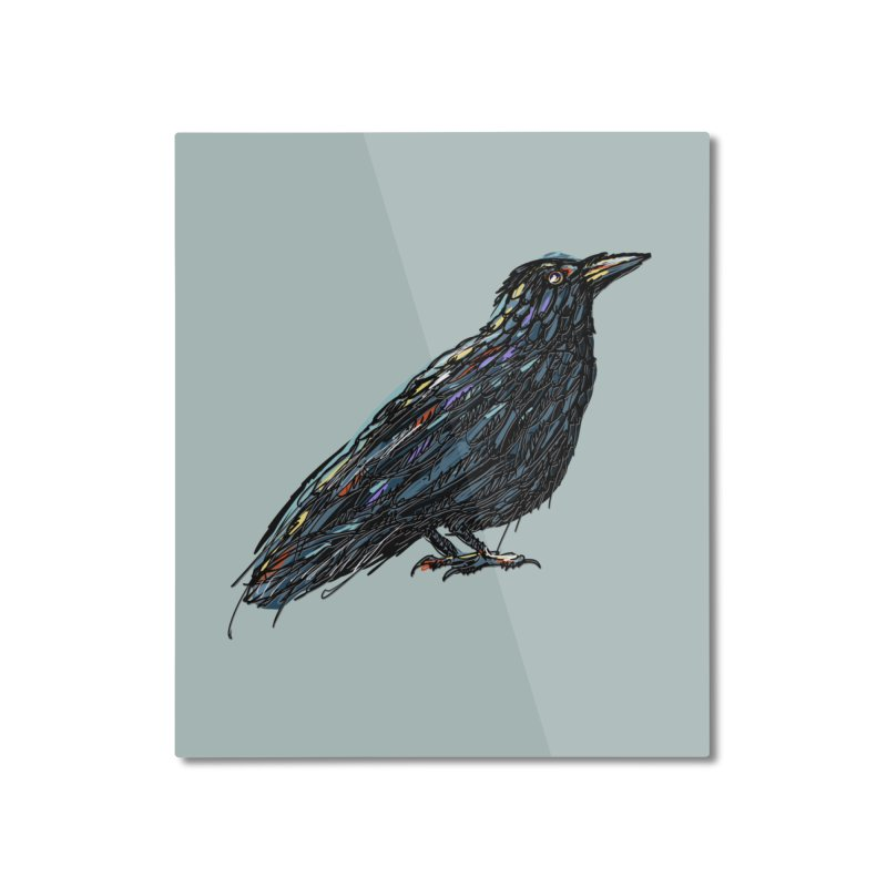 Crow's Feet Home Mounted Aluminum Print by BullShirtCo