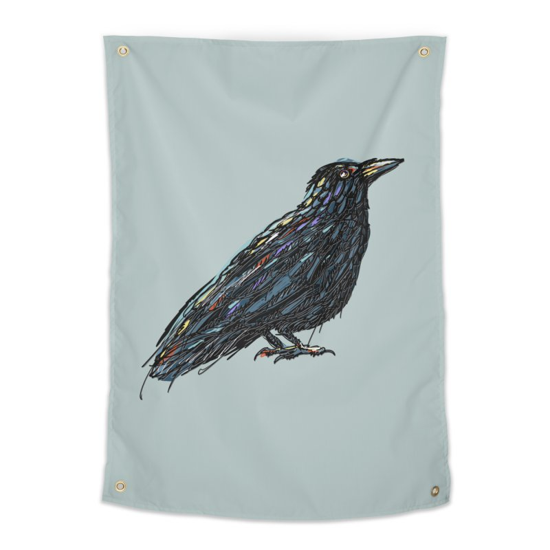 Crow's Feet Home Tapestry by BullShirtCo