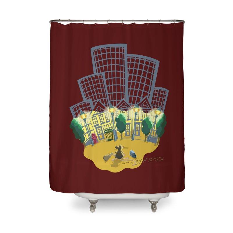 Big Plans Home Shower Curtain by BullShirtCo