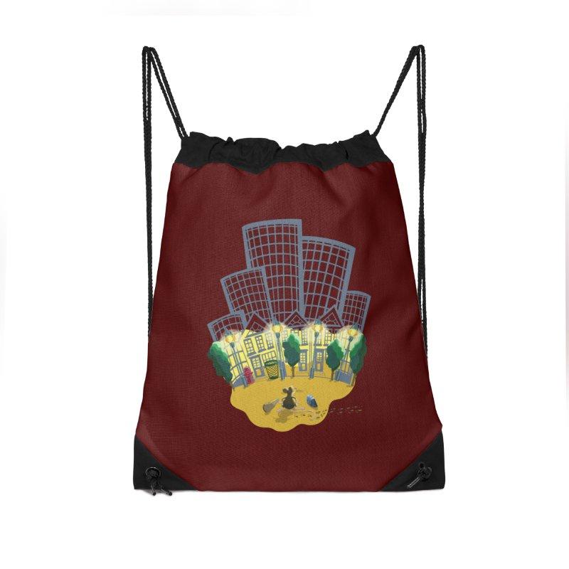 Big Plans Accessories Drawstring Bag Bag by BullShirtCo
