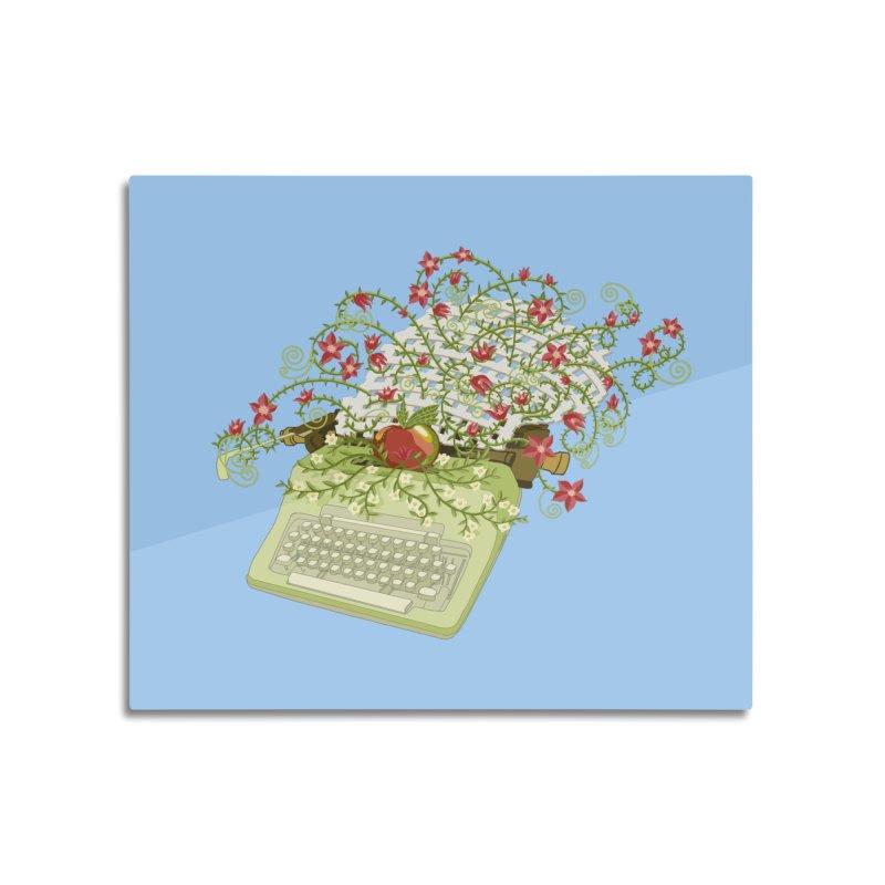 Gardening Guide Home Mounted Aluminum Print by BullShirtCo