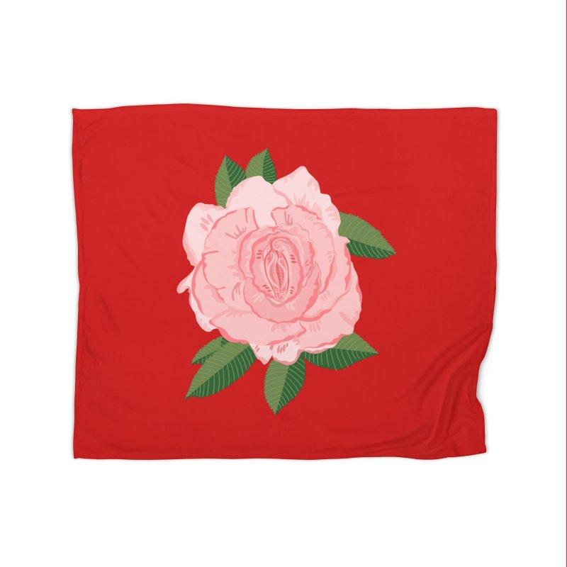 Female Flower Power Home Blanket by BullShirtCo