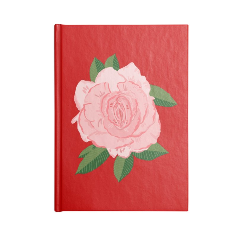 Female Flower Power Accessories Notebook by BullShirtCo