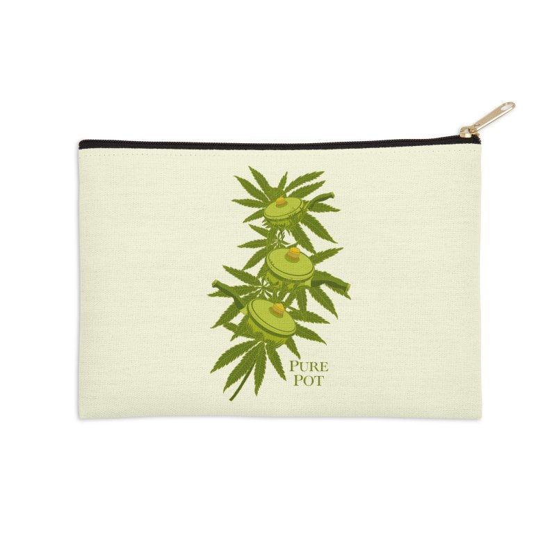 1968 Natural Pot Accessories Zip Pouch by BullShirtCo