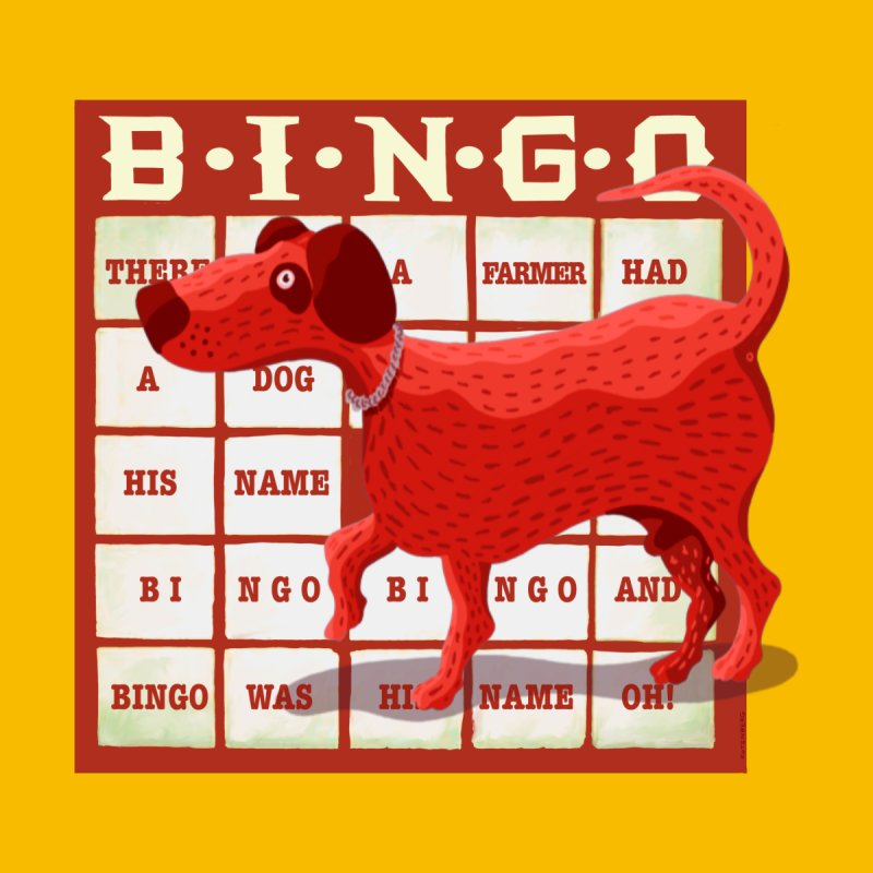 And Bingo was his name Oh Home Rug by BullShirtCo
