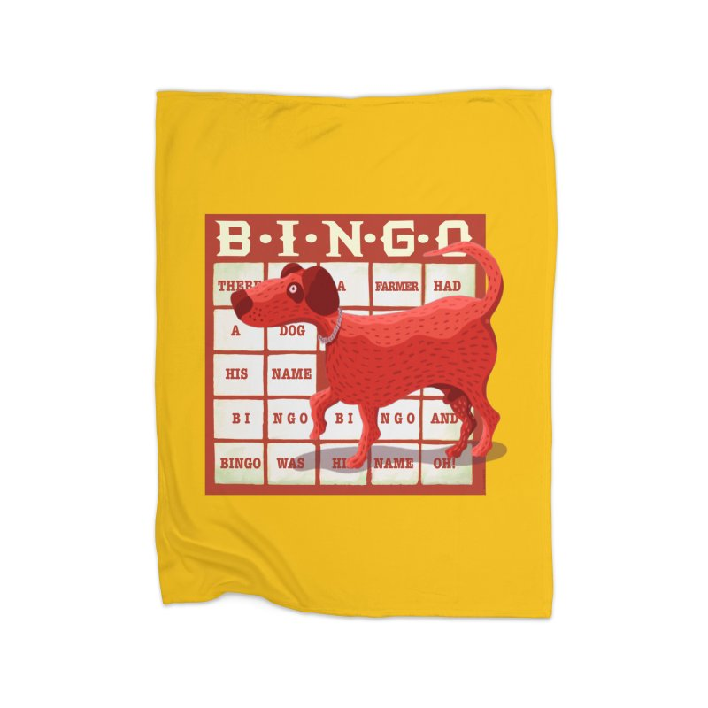 And Bingo was his name Oh Home Blanket by BullShirtCo