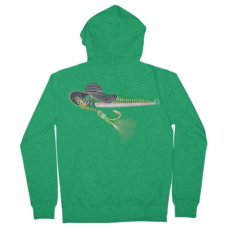 Green Hooker! Women's Zip-Up Hoody by BullShirtCo