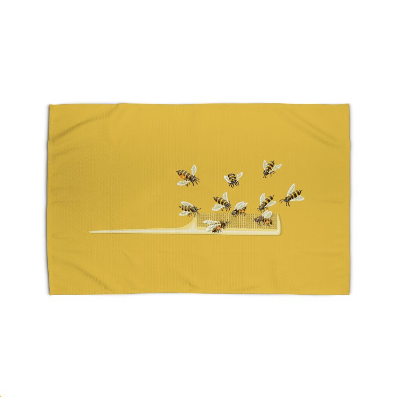 Mislead Team Of Busy Bees Home Rug by BullShirtCo