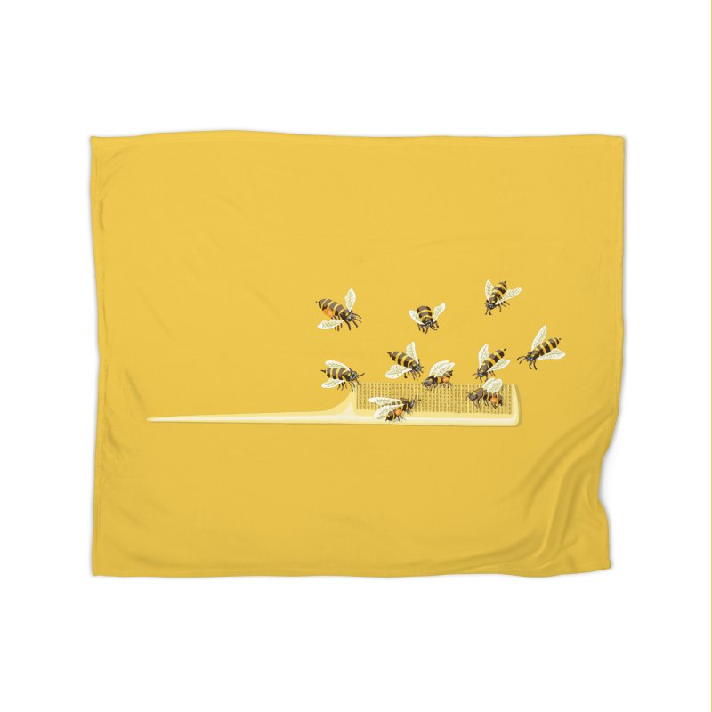 Mislead Team Of Busy Bees Home Blanket by BullShirtCo