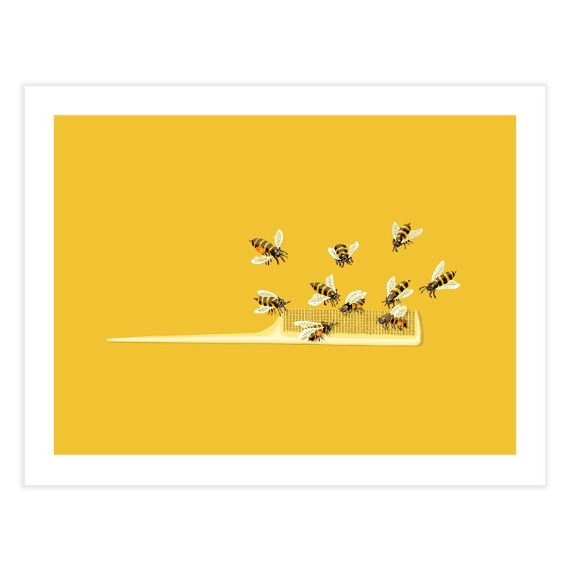 Mislead Team Of Busy Bees Home Fine Art Print by BullShirtCo