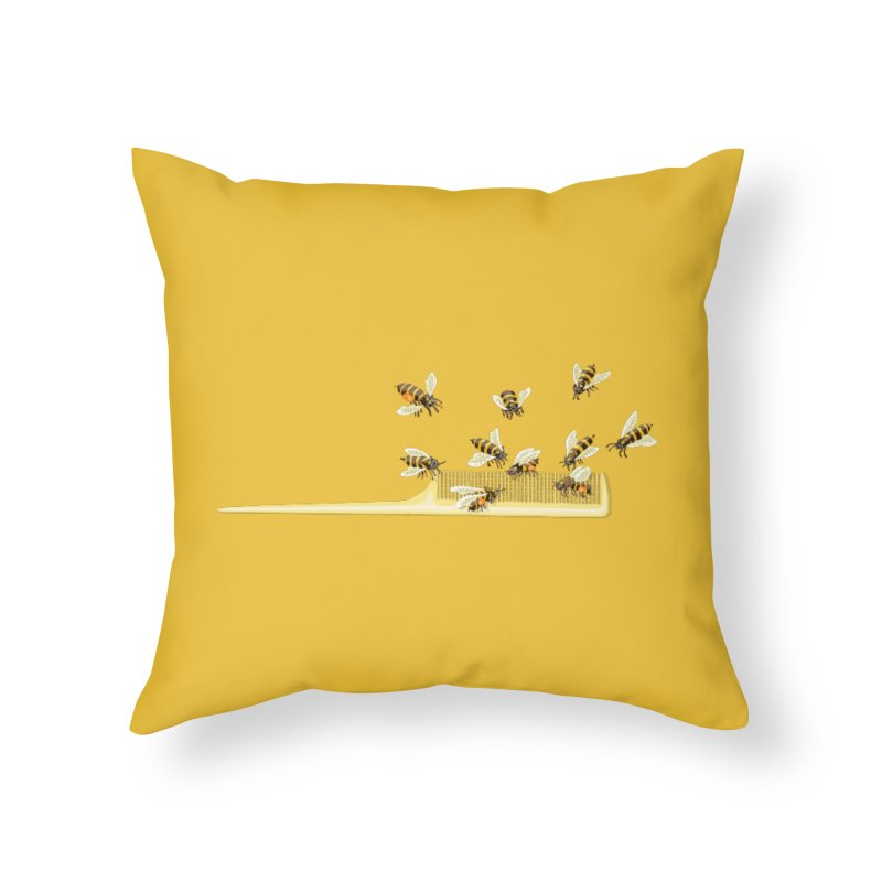 Mislead Team Of Busy Bees Home Throw Pillow by BullShirtCo
