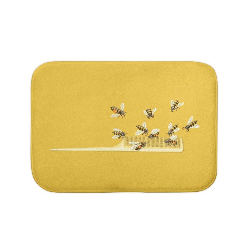 Mislead Team Of Busy Bees Home Bath Mat by BullShirtCo