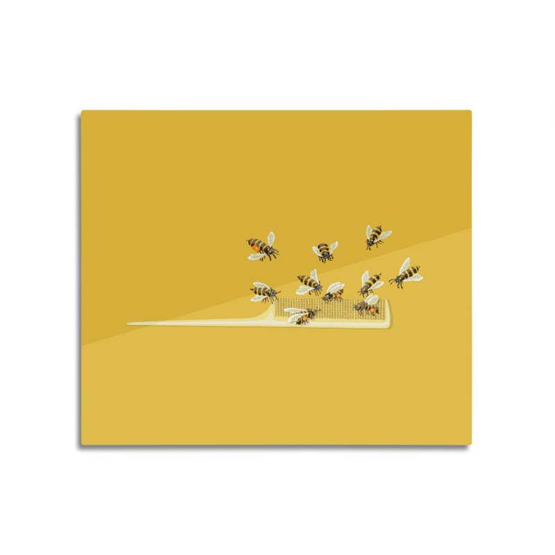 Mislead Team Of Busy Bees Home Mounted Acrylic Print by BullShirtCo