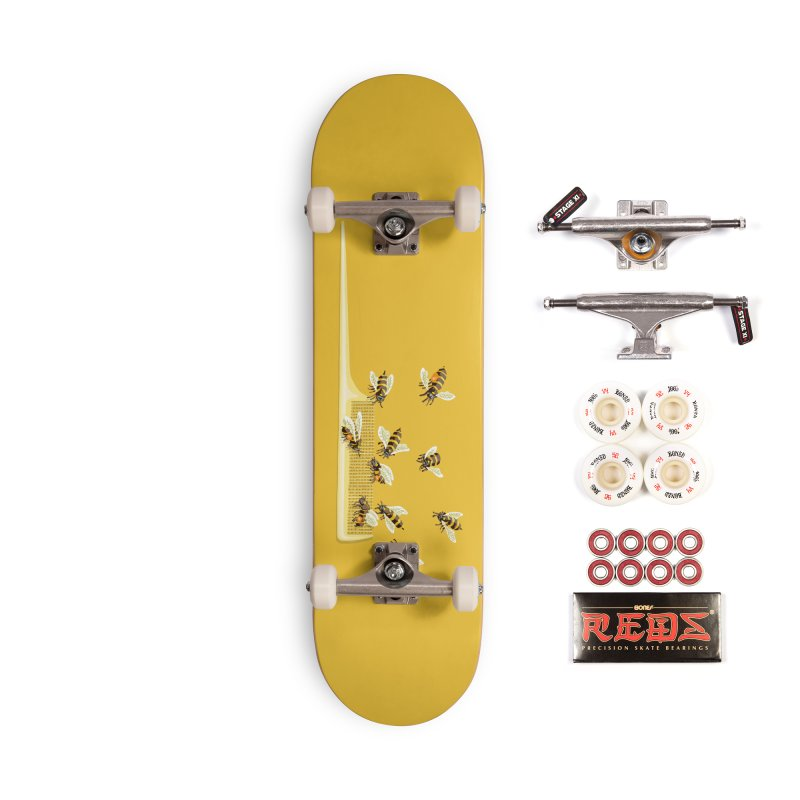 Mislead Team Of Busy Bees Accessories Skateboard by BullShirtCo