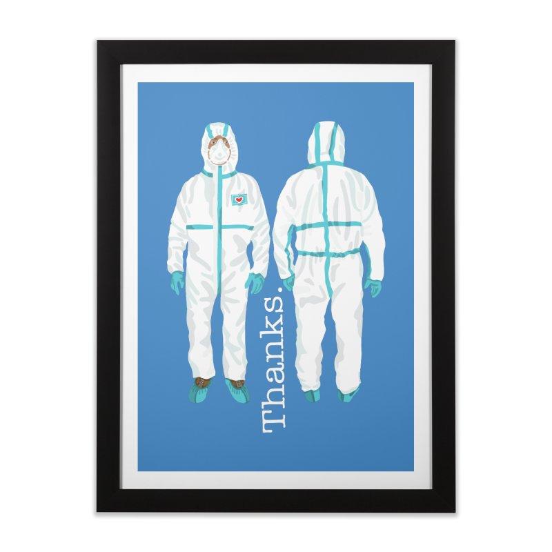 Thanks So Much! Home Framed Fine Art Print by BullShirtCo
