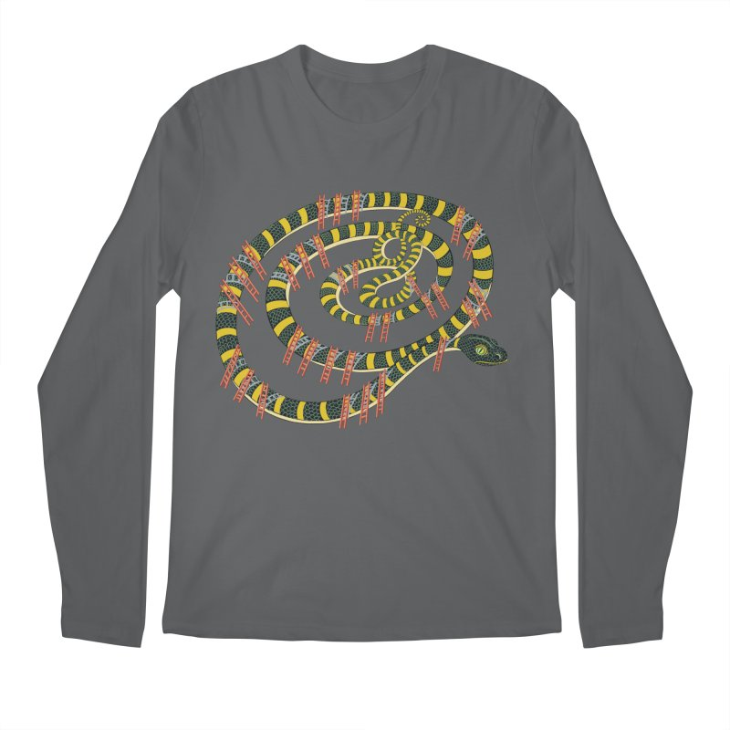 Snake & Ladders Men's Longsleeve T-Shirt by BullShirtCo