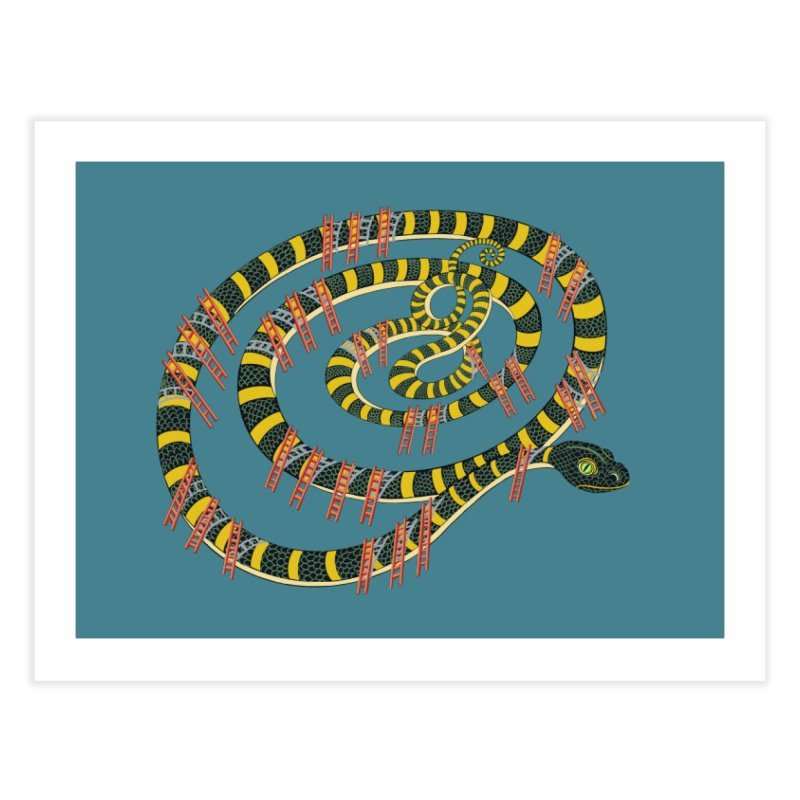 Snake & Ladders Home Fine Art Print by BullShirtCo
