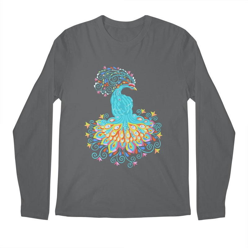 Peacecock Men's Longsleeve T-Shirt by BullShirtCo