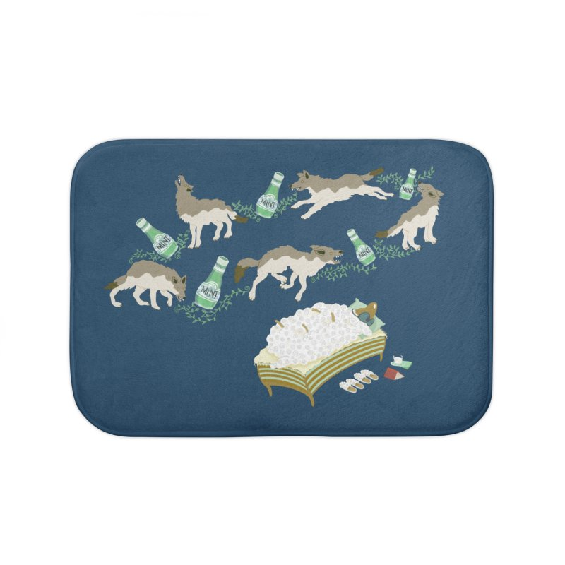 Sheep's Nightmare Home Bath Mat by BullShirtCo