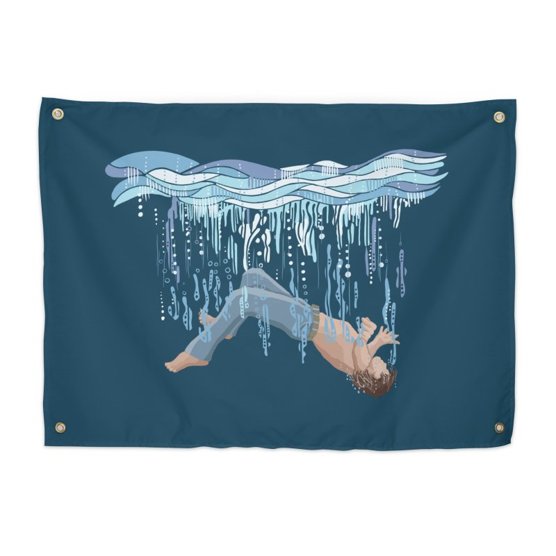 Waterfall Home Tapestry by BullShirtCo