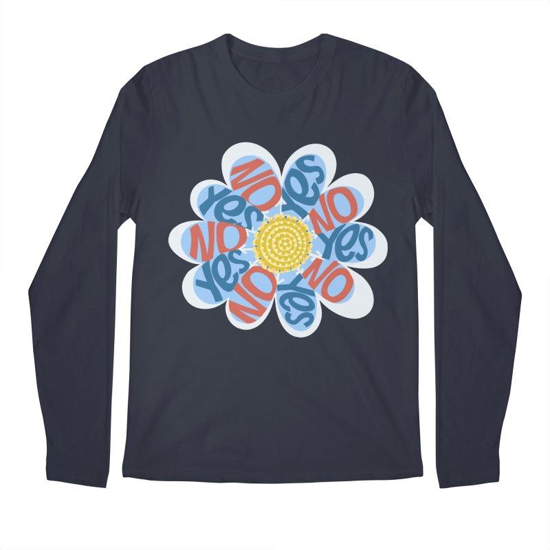 Vote Yes No Yes No Daisy Men's Longsleeve T-Shirt by BullShirtCo