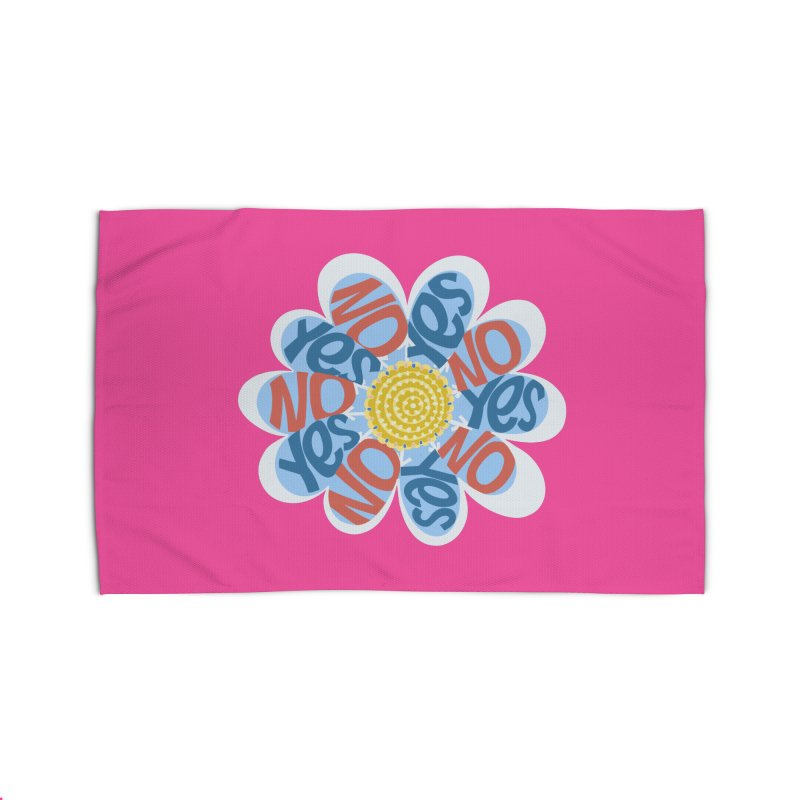 Vote Yes No Yes No Daisy Home Rug by BullShirtCo