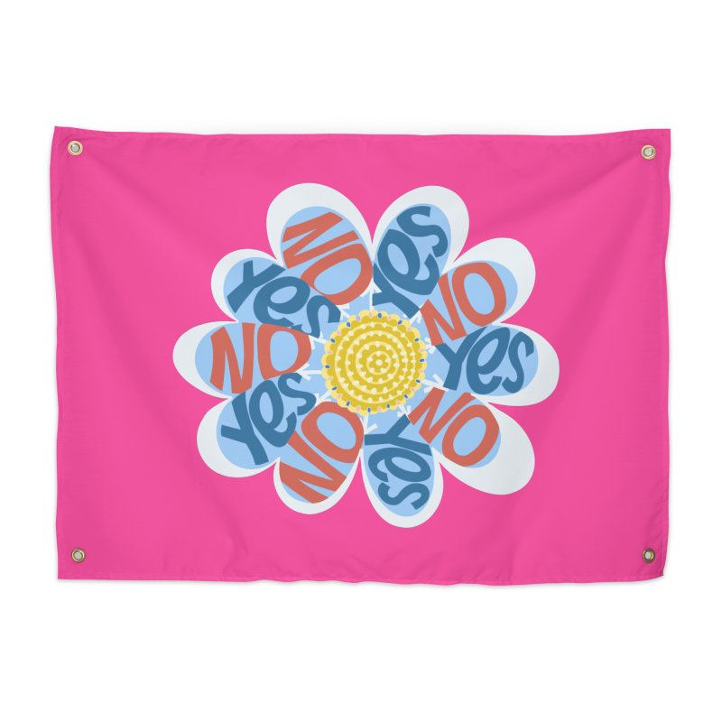 Vote Yes No Yes No Daisy Home Tapestry by BullShirtCo