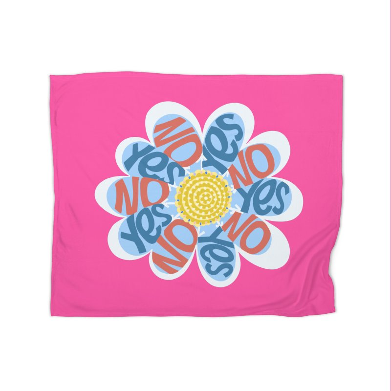 Vote Yes No Yes No Daisy Home Blanket by BullShirtCo