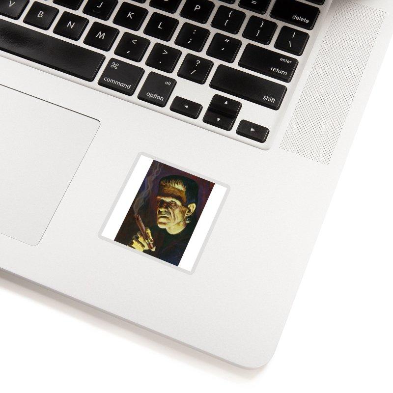 Holy Smokes! Frankenstein Smokes Accessories Sticker by BullShirtCo
