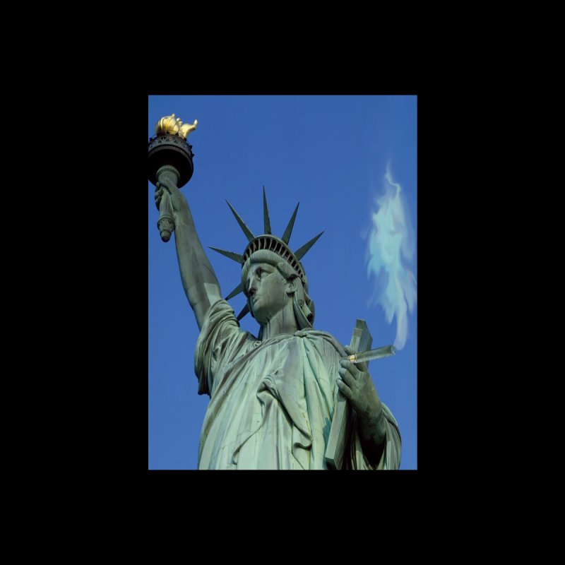 Holy Smokes! Statue of Liberty and cigar Accessories Sticker by BullShirtCo