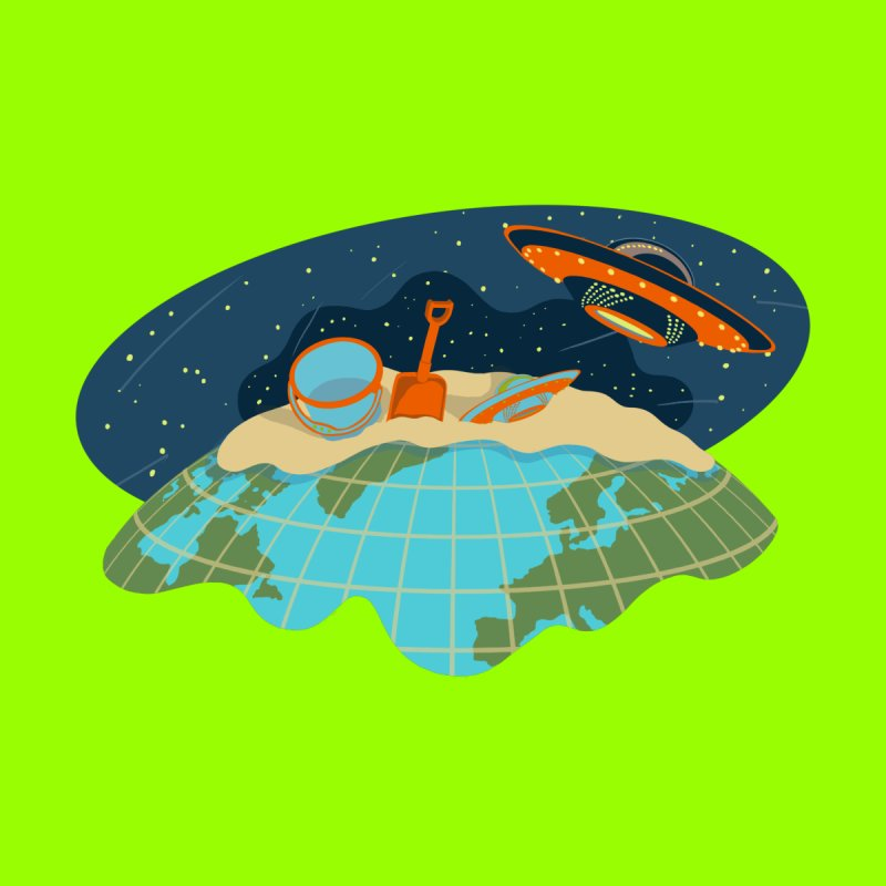Alien Vacation Men's T-Shirt by BullShirtCo