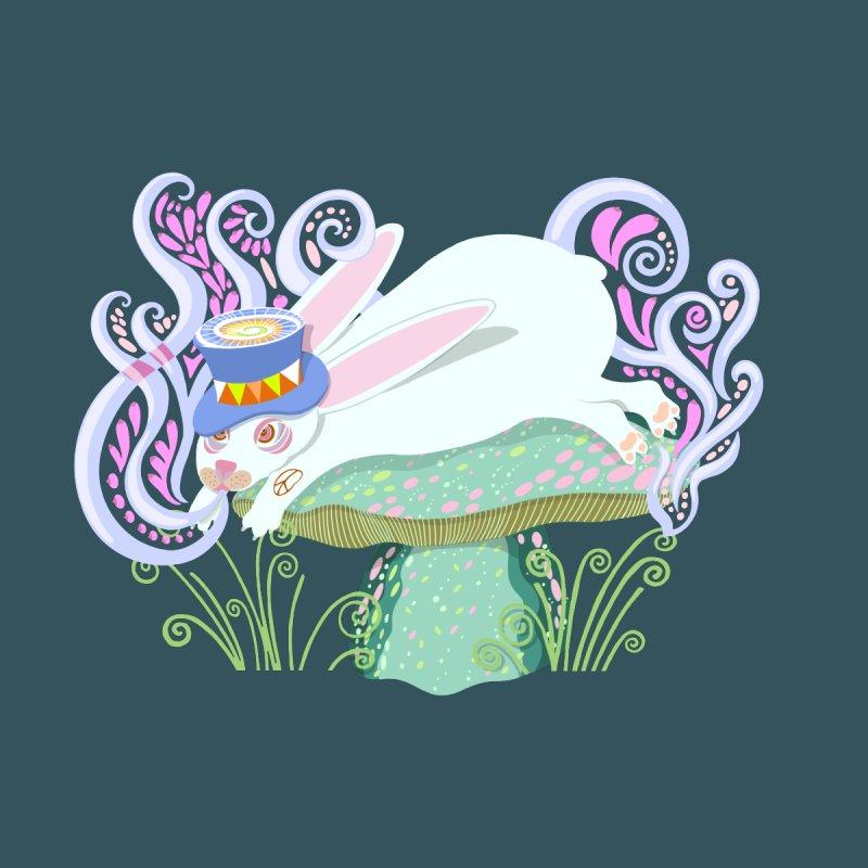 Groovy Wonderland Wabbit Men's T-Shirt by BullShirtCo