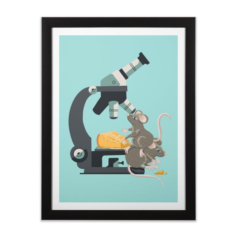 Micro Mouse 'n Cheese Home Framed Fine Art Print by BullShirtCo