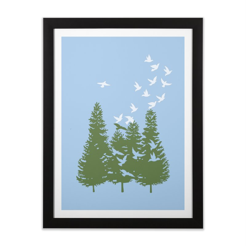 20 Birds Take Off Home Framed Fine Art Print by BullShirtCo