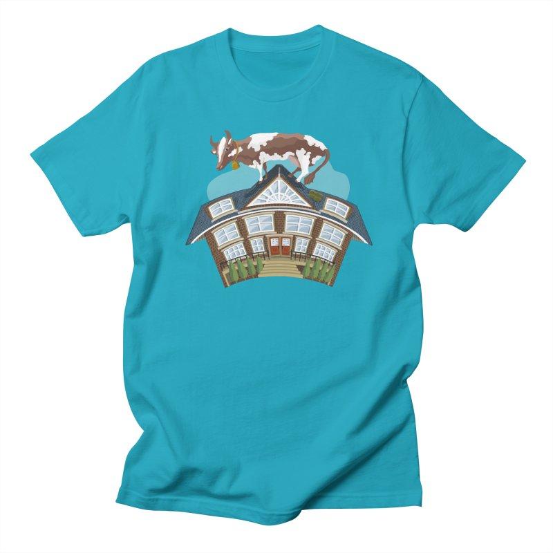 Cow on a Hot Tin Roof Men's T-Shirt by BullShirtCo