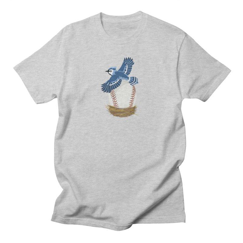 Play Ball! Blue Jay Baseball Egg in Nest Men's T-Shirt by BullShirtCo