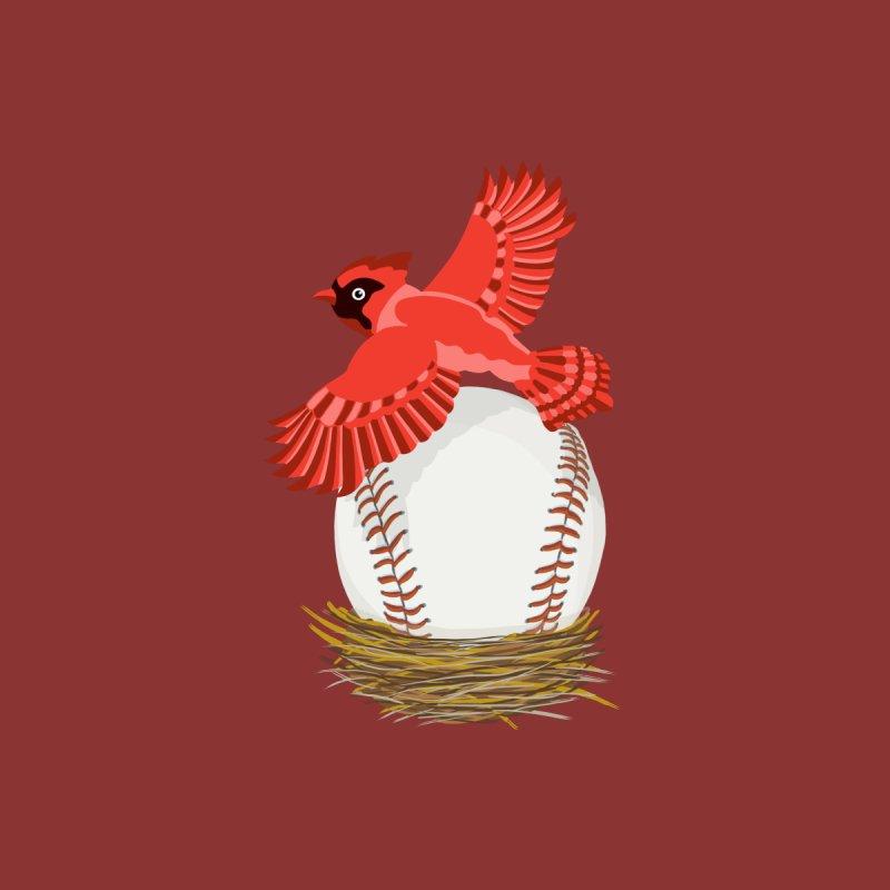 Play Ball! Cardinal Baseball Egg in Nest Men's T-Shirt by BullShirtCo