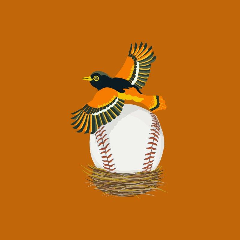 Play Ball! Oriole Baseball Egg in Nest Men's T-Shirt by BullShirtCo