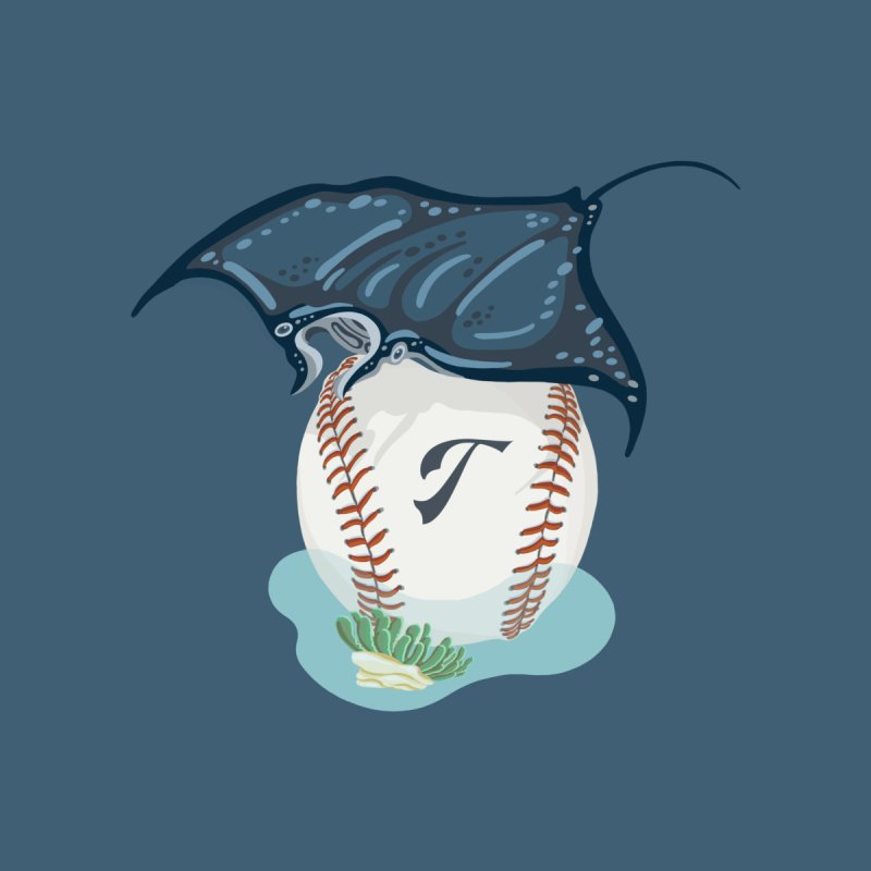 Play Ball! A Ray Dives Over A Baseball with Initial T Accessories Neck Gaiter by BullShirtCo
