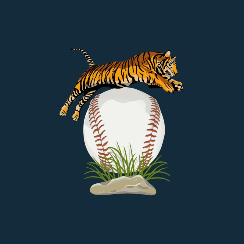 Play Ball! A Beautiful Tiger Dives Over A Baseball Men's Tank by BullShirtCo