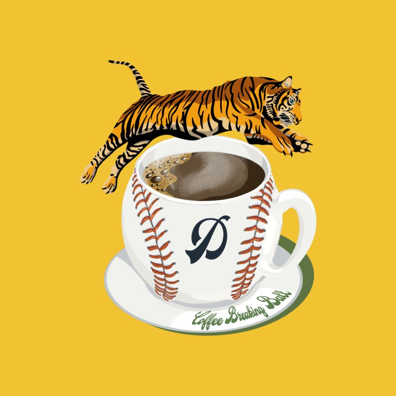 Coffee Breaking Ball! Tiger and D! Accessories Skateboard by BullShirtCo